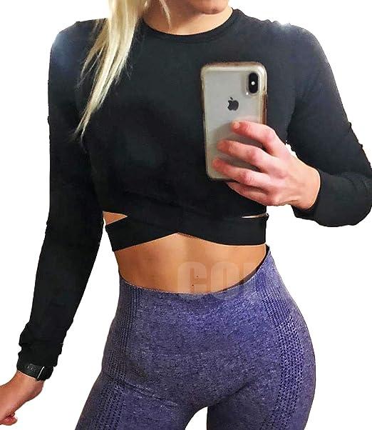 Amazon.com: COLO Camisetas de manga larga para mujer, para ...