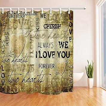 Home Decor I Love You Graffiti Vorhang Fur Die Dusche In Badewanne