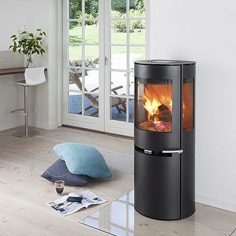 Estufa de leña Aduro 9-5 negro 6 kW horno de leña