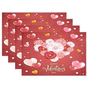 Amazon com: baihuishop ALAZA Happy Valentines Day Background