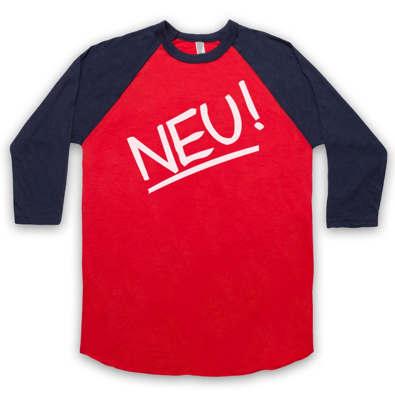 Inspired by Neu Band Logo Unofficial 3/4 Sleeve Retro Baseball Tee