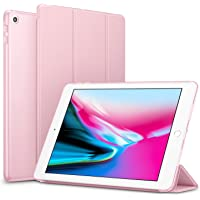 Robustrion Smart Trifold Hard Back Flip Stand Case Cover for New iPad 9.7 inch 2018/2017 5th 6th Generation Model A1822 A1823 A1893 A1954 - Rose Gold