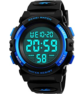 Kids Digital Watch,Boys Sports Waterproof Led Watches With Alarm,Wrist Watch For Boys
