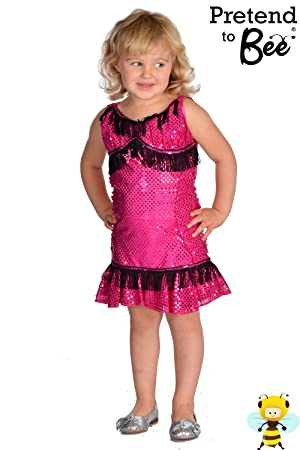Childrens Fancy Dress Pink Flapper Girls 5 - 6 Years Jazz 1920s Jazz Dressing Up Outfit  sc 1 st  Amazon UK & Childrens Fancy Dress Pink Flapper Girls 5 - 6 Years Jazz 1920s Jazz Dressing Up Outfit