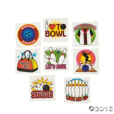Bowling Tattoos - Pack of 72: Toys & Games