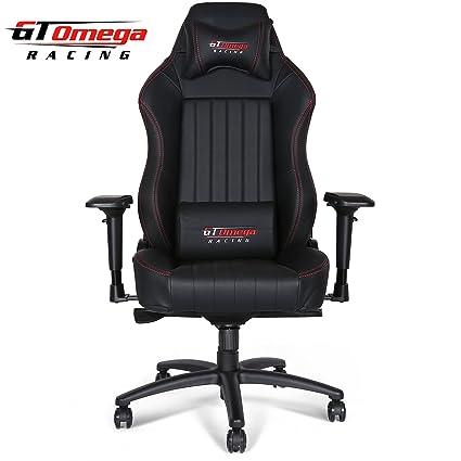 Silla de oficina GT Omega Racing, modelo EVO XL, de piel, color ...