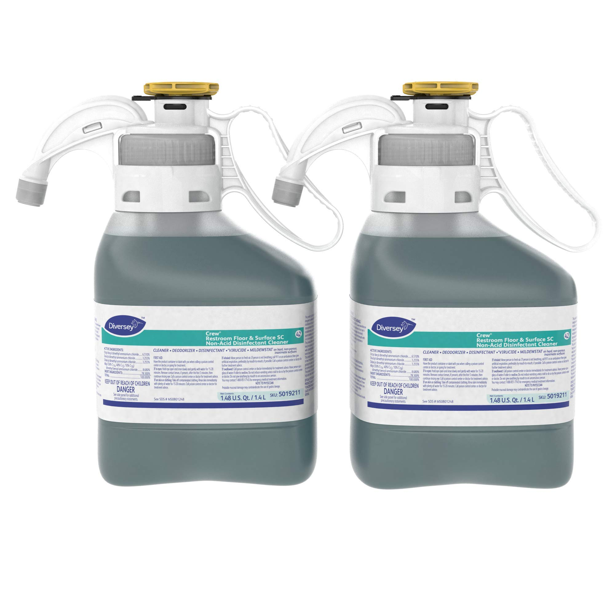 Diversey Crew Restroom Floor and Surface Non-Acid Disinfectant Cleaner
