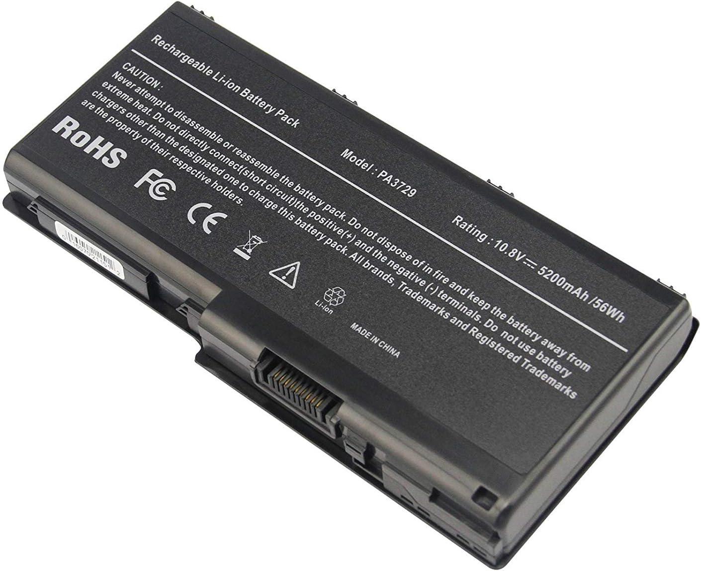 Laptop Battery for Toshiba Qosmio X500 X505 Satellite P500 P505 Series PN: PA3729U-1BAS PA3729U-1BRS PABAS207, 5200mAh/6-Cells