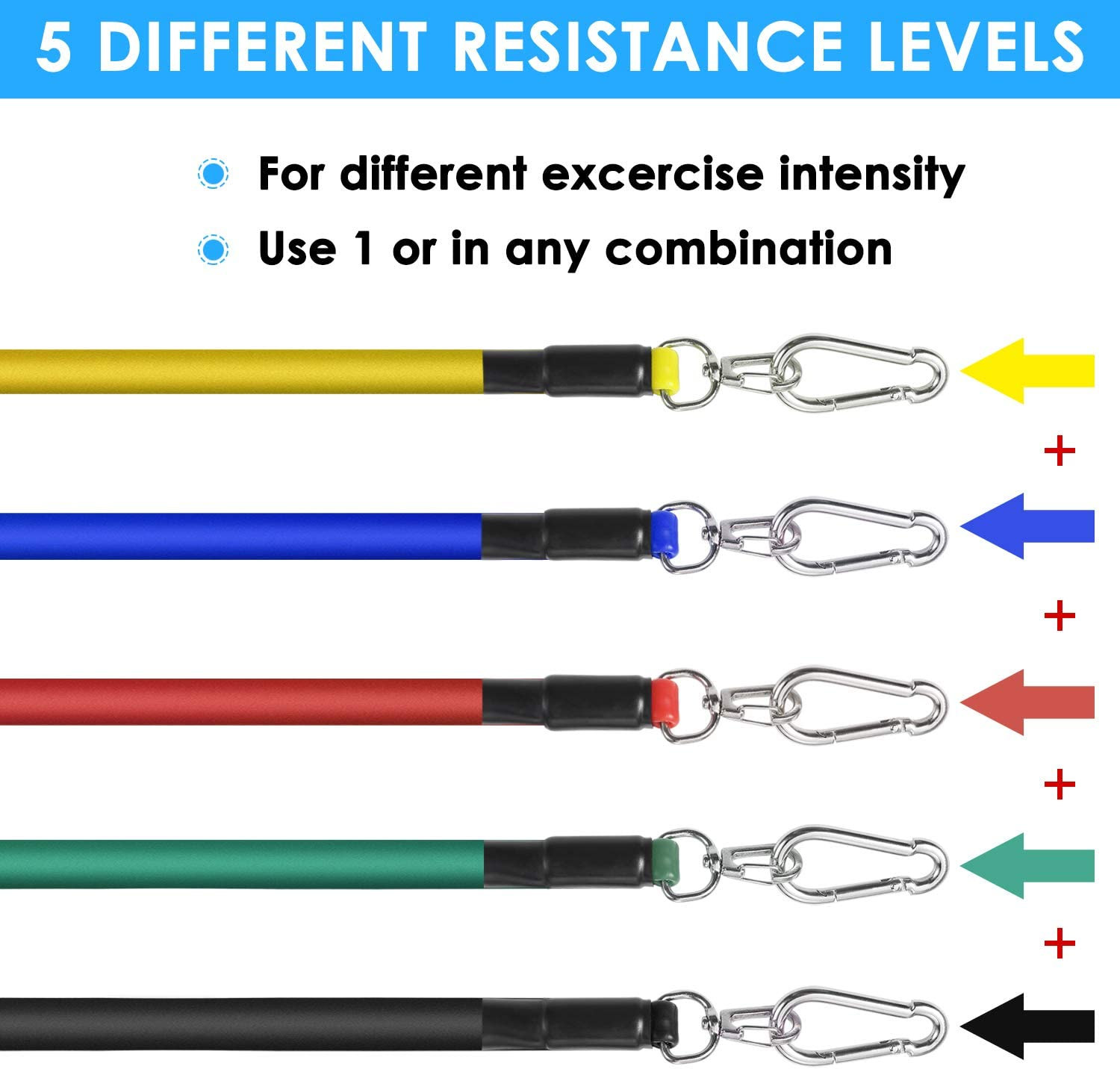 YJZIWX Exercise Resistance Bands with Handles,Ankle Straps Carry Bag Great for Resistance Training,Fabric Resistance Bands for Beginners,Hip Bands Workout Bands,Stretch Fitness Home Set Door Anchor