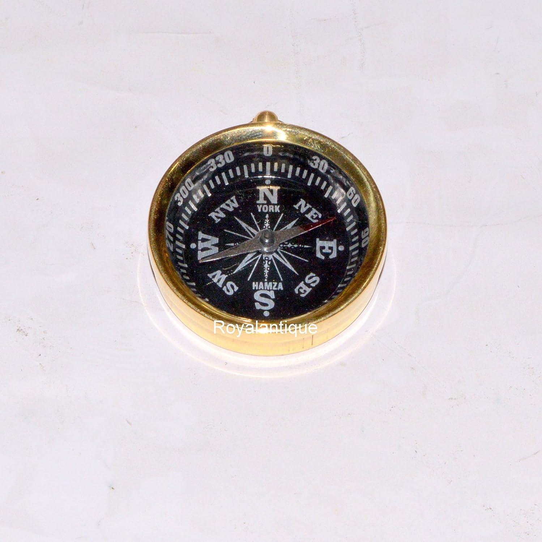 アンティークヴィンテージネックレスコンパスソリッド真鍮ダイヤルポケットペンダントコンパス B072HDPBLB