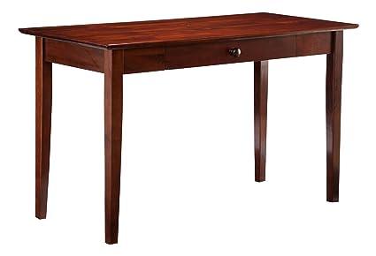 Atlantic Furniture Shaker Desk with Drawer, Antique Walnut - Amazon.com: Atlantic Furniture Shaker Desk With Drawer, Antique