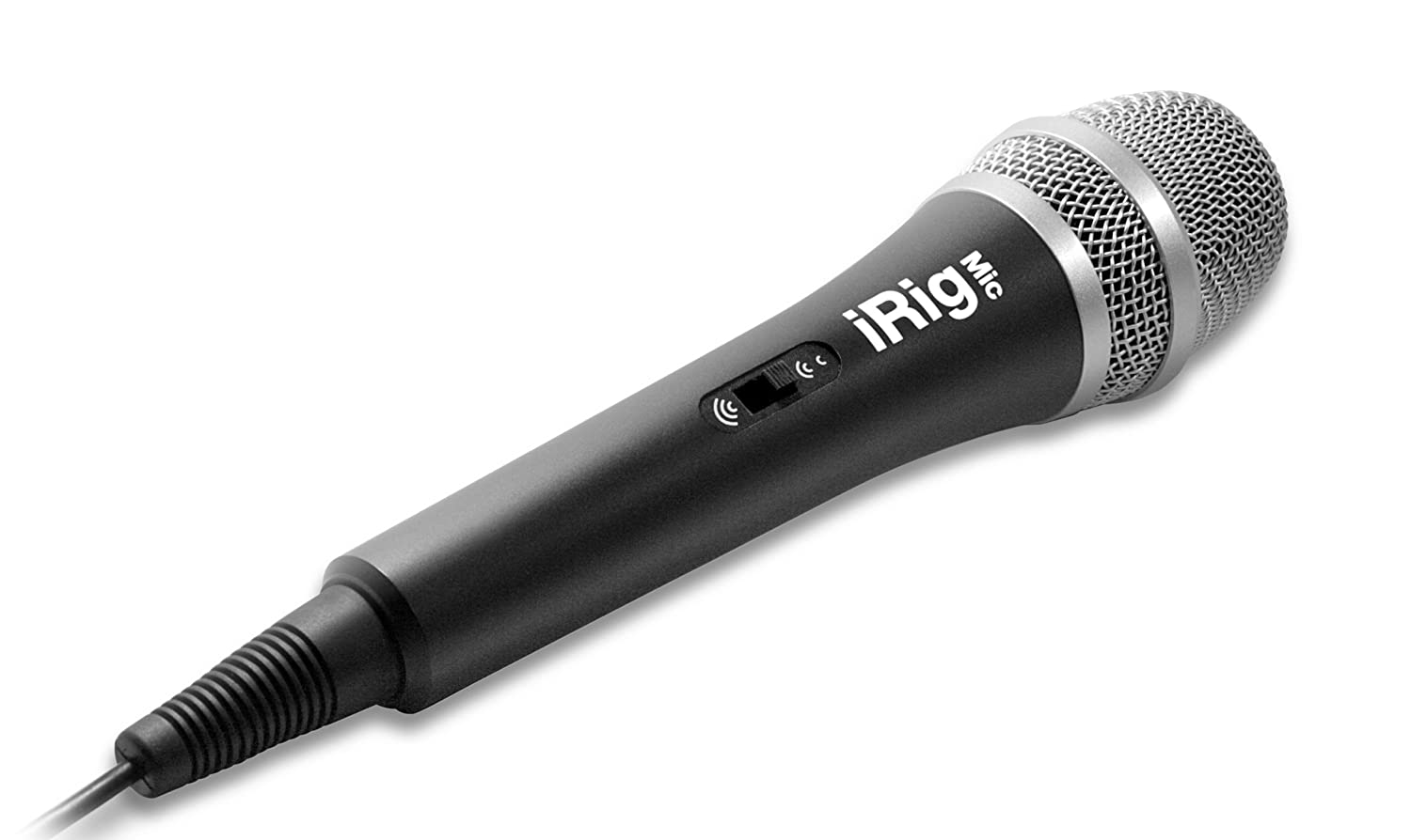 IK Multimedia iRig Mic Microfono Professionale Accessorio per iPhone/iPad/iPod/Android Touch, Nero IPIRIGMICIN BASSO CHITARRA MIXER