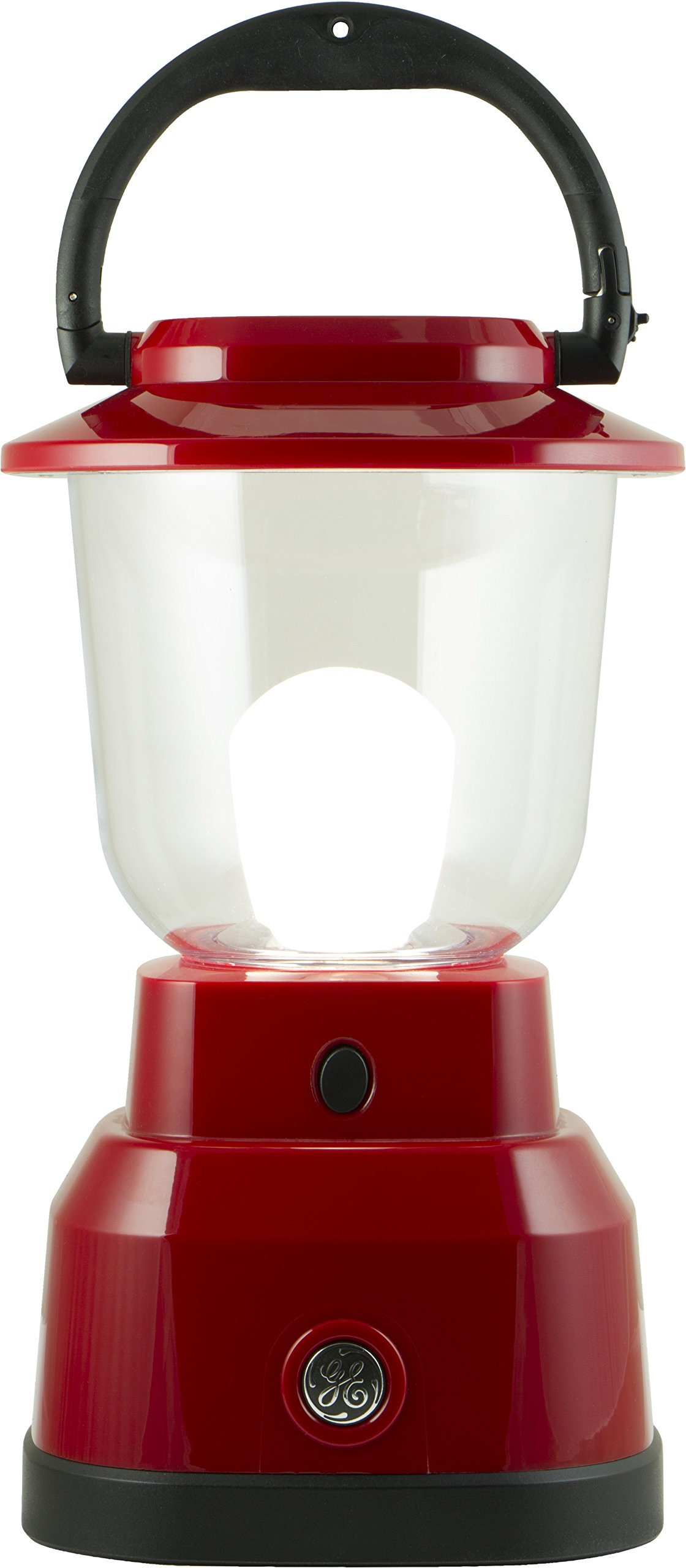 Enbrighten LED Lantern, Battery Operated, USB Charging, Red Finish, 800 Lumens, 200 Hour Runtime, 3 Light Levels, Ideal for Outdoors, Camping, Hurricane, Storm, Tornado & Emergency, 29923 by GE Enbrighten