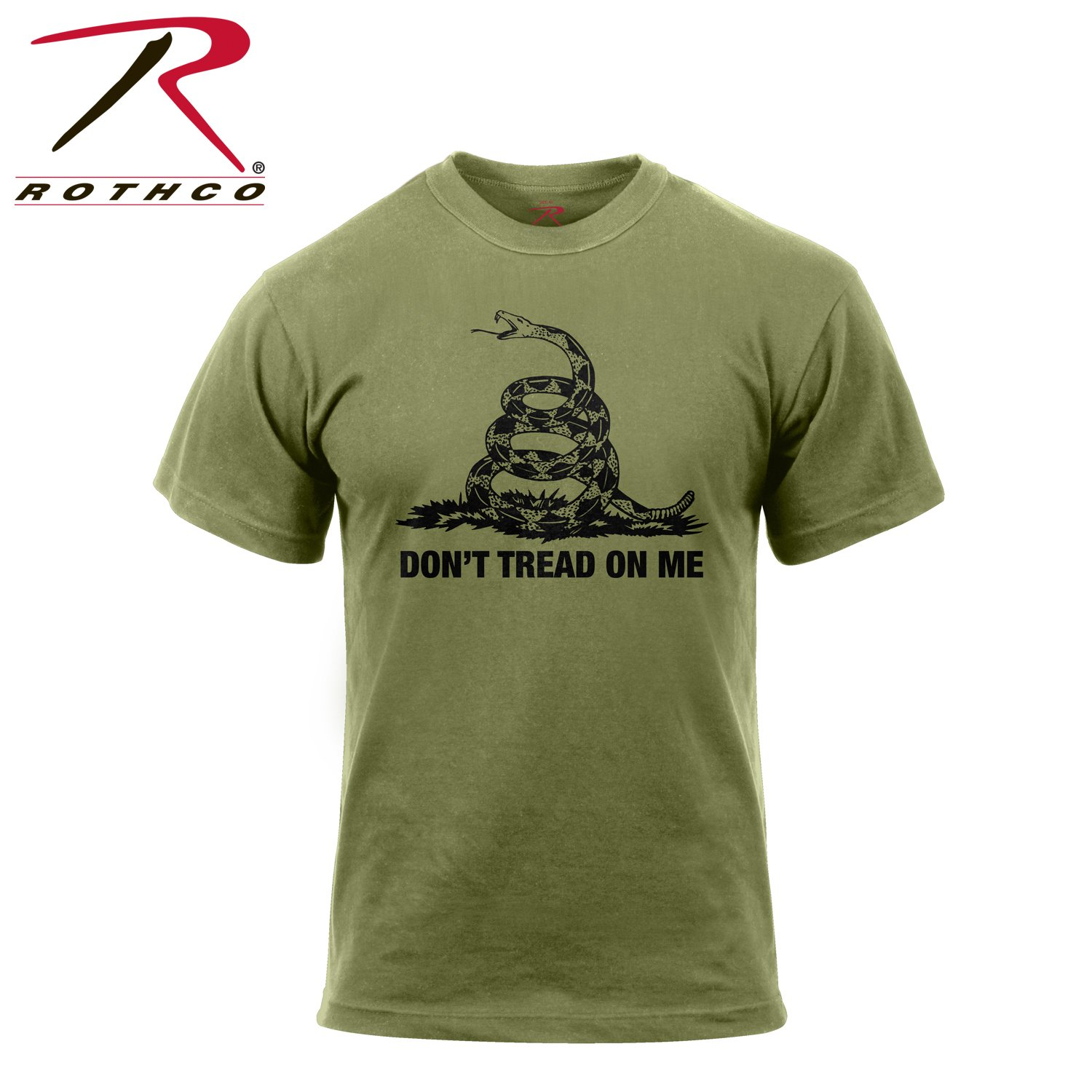 Rothco Don't Tread On Me T-Shirt, Olive Drab, 3X-Large