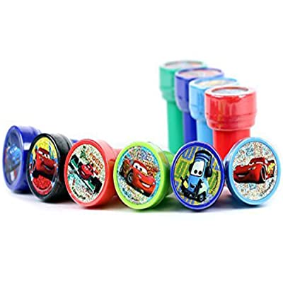 Disney Cars Self-Inking Stamps / Stampers Party Favors (10 Counts) by GoodyPlus: Toys & Games