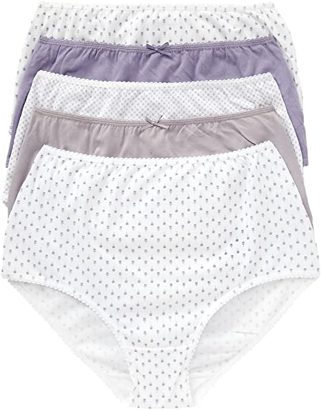 M/&S SIZE 26 HIGH LEGS KNICKERS BRIEFS 5 PAIRS NEW COTTON MARKS AND SPENCER