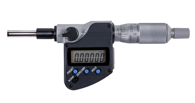 0.00005//0.001 mm 3//8 Stem 1 Mitutoyo 350-351-30 MHN1-1MX Micrometer Head
