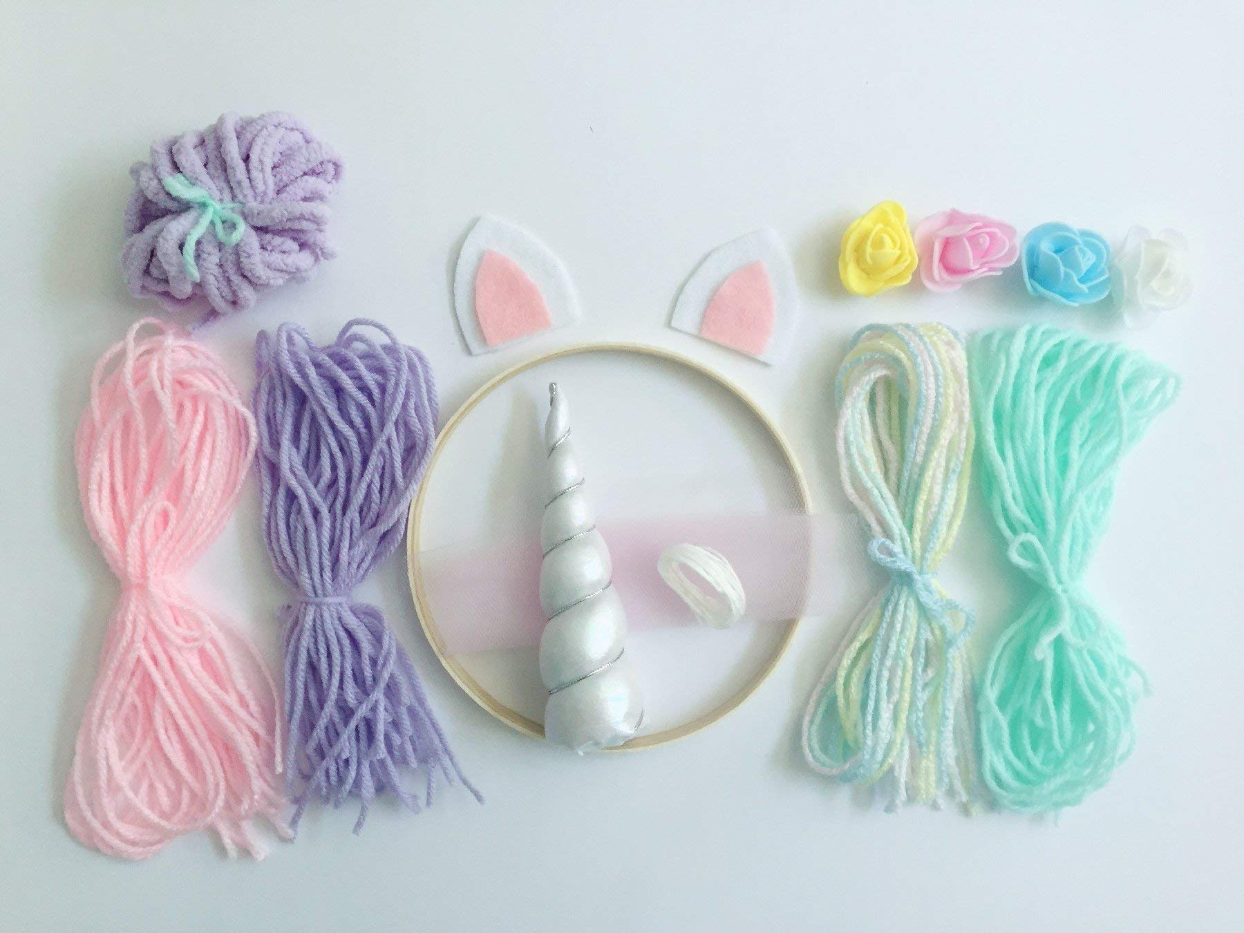 Full Size Make Your Own Unicorn Dream Catcher Kit Kids Craft Gifts for girls 5
