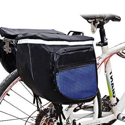 Cyclingdeal 500D Polyester Waterproof Bike Bicycle Rear Pannier Bag 14L