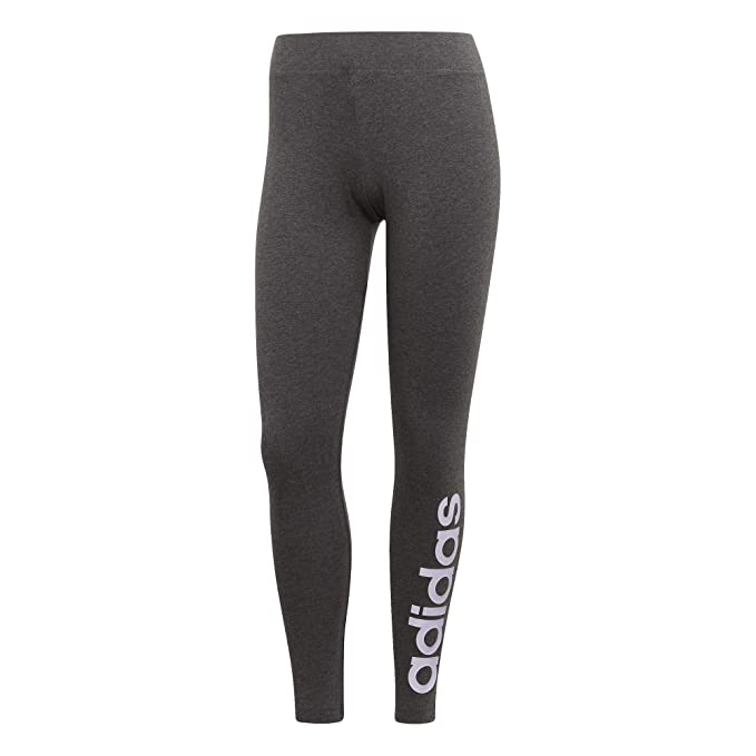 adidas Damen W E Lin Tights Dunkelgrau