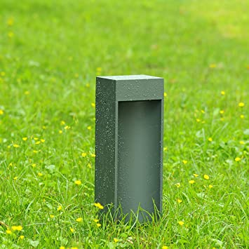 Moderno Sencillo Aluminio Material jardín luces Aire libre Espacios Césped Lámpara Fit jardín Hotel pati Impermeable Baliza Gris Iluminación exterior: Amazon.es: Bricolaje y herramientas