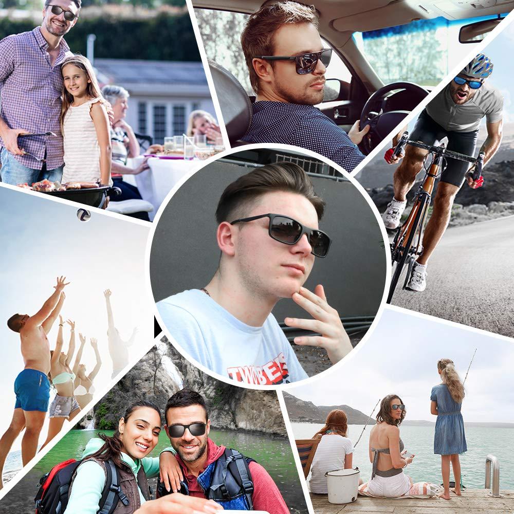 Pescar e Ir en Bicicleta Monta/ña,Lentes UV400 Y Montura De TR-90,100/% De Protecci/ón UV /… bedee Gafas de Sol Hombre Gafas de Sol Polarizadas Aptos para Conducir