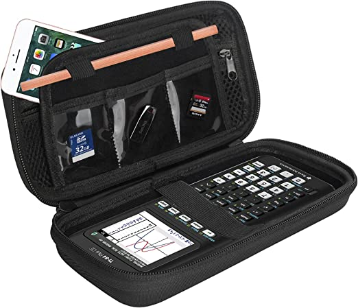 ProCase Hard EVA Case for Texas Instruments Ti-84 Plus CE, Durable Travel Storage Carrying Box Protective Bag for Ti-84 Ti-83 Ti-85 Ti-89 Ti-82 Plus/C CE Graphing Calculator and More –Black