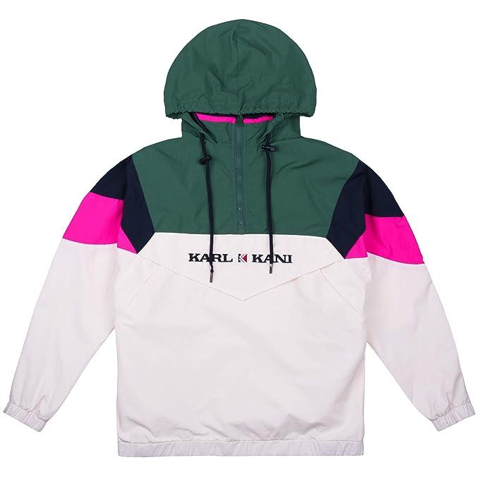 Karl Kani Women Windbreaker Block, Größe:L, Farbe:Green/White/Pink: Amazon.es: Ropa y accesorios