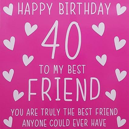 Tarjeta de felicitación de 40 cumpleaños para mejor amigo ...