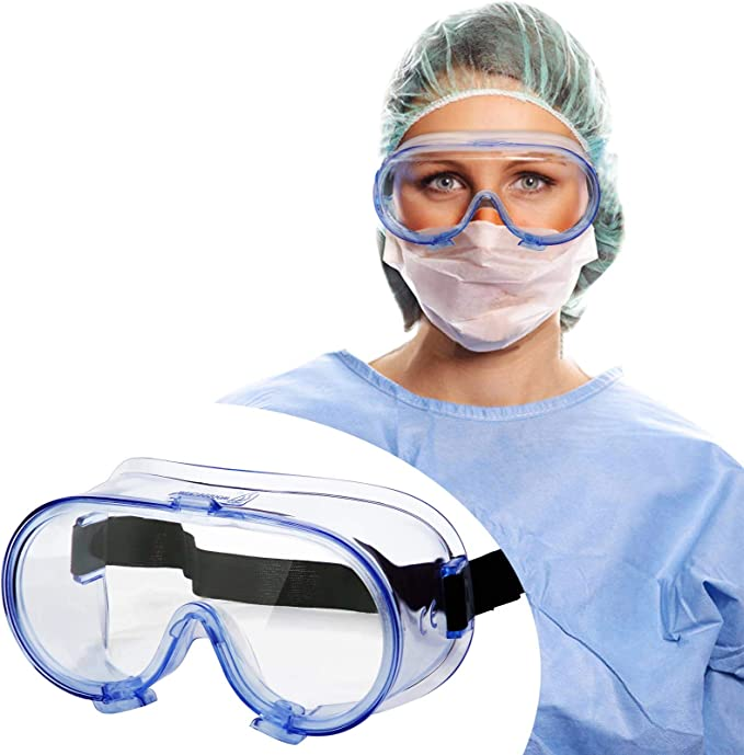 Safety Goggles FDA Registered, Z87.1 Safety Glasses Eye Protection-Medical Goggles Fit Over