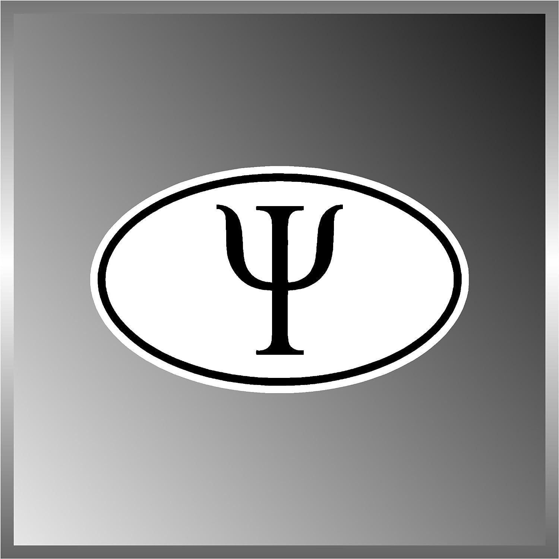 "Psi Greek Alphabets Symbol Vinyl Euro Decal Bumper Sticker 3"" X 5"""