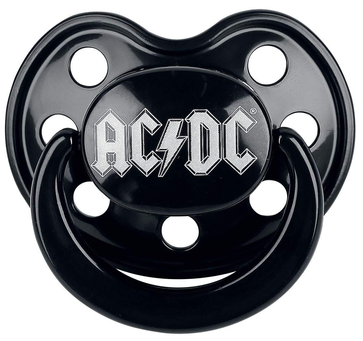 AC/DC Logo Tétine noir 0-6 Monate 431-101-8-1