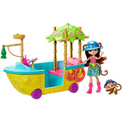 Enchantimals Junglewood Boat & Merit Monkey Doll: Toys & Games