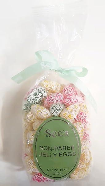 amazon com sees candies jelly bean bird eggs 12oz grocery