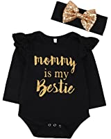 """Newborn Baby Girls Clothes Floral """"Mommy is My..."""