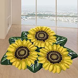 "Hughapy 3 Sunflower Design Bedroom Mat Antiskid Carpet/Area Rug,31.5""x20"" 31.5""x20"",1 Piece #003"