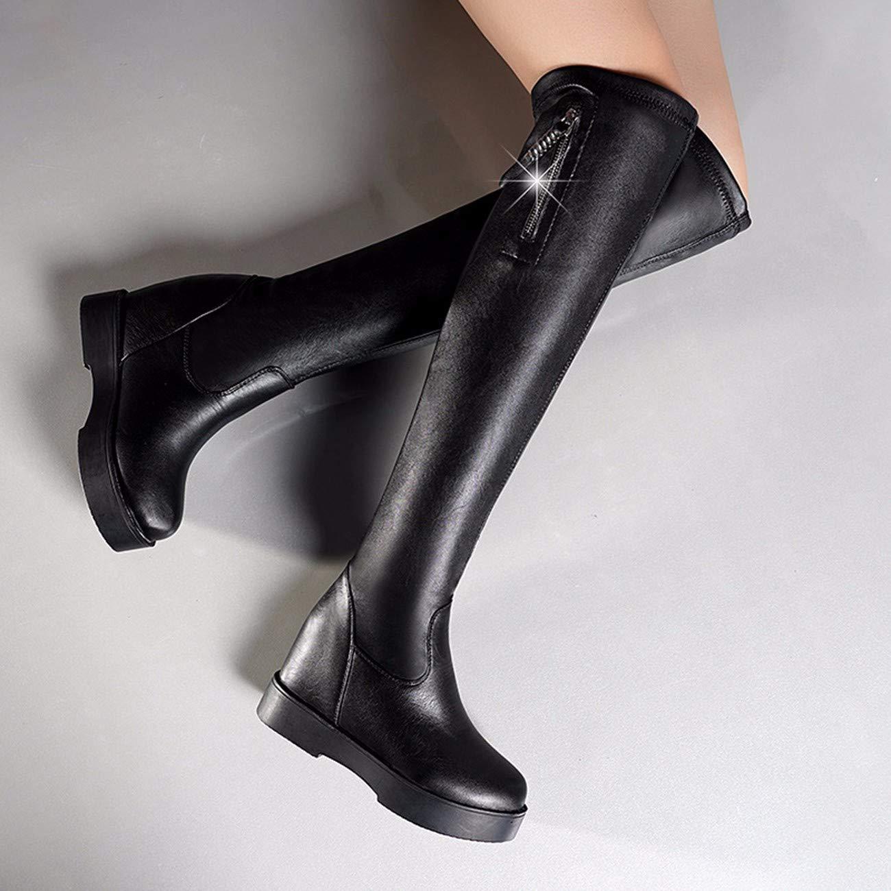 QPGGP-Stiefel Frauen - Herbst - Winter So Stiefel Martin Stiefel Europäische Und Amerikanische Stiefel So Warme Runde Mädchen. d7667f
