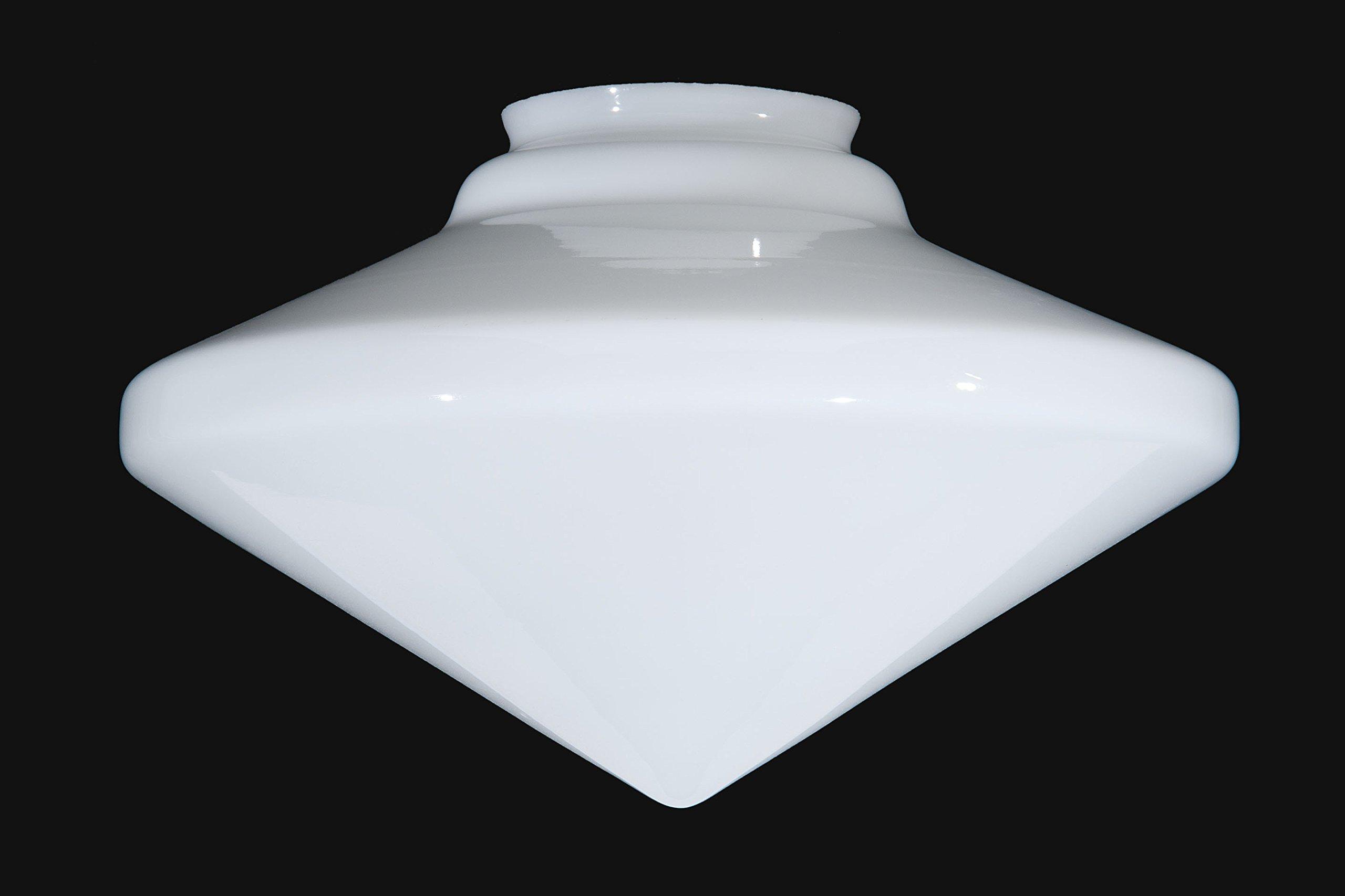 B&P Lamp 18'' Art Deco Style Opal Glass Shade by B&P Lamp