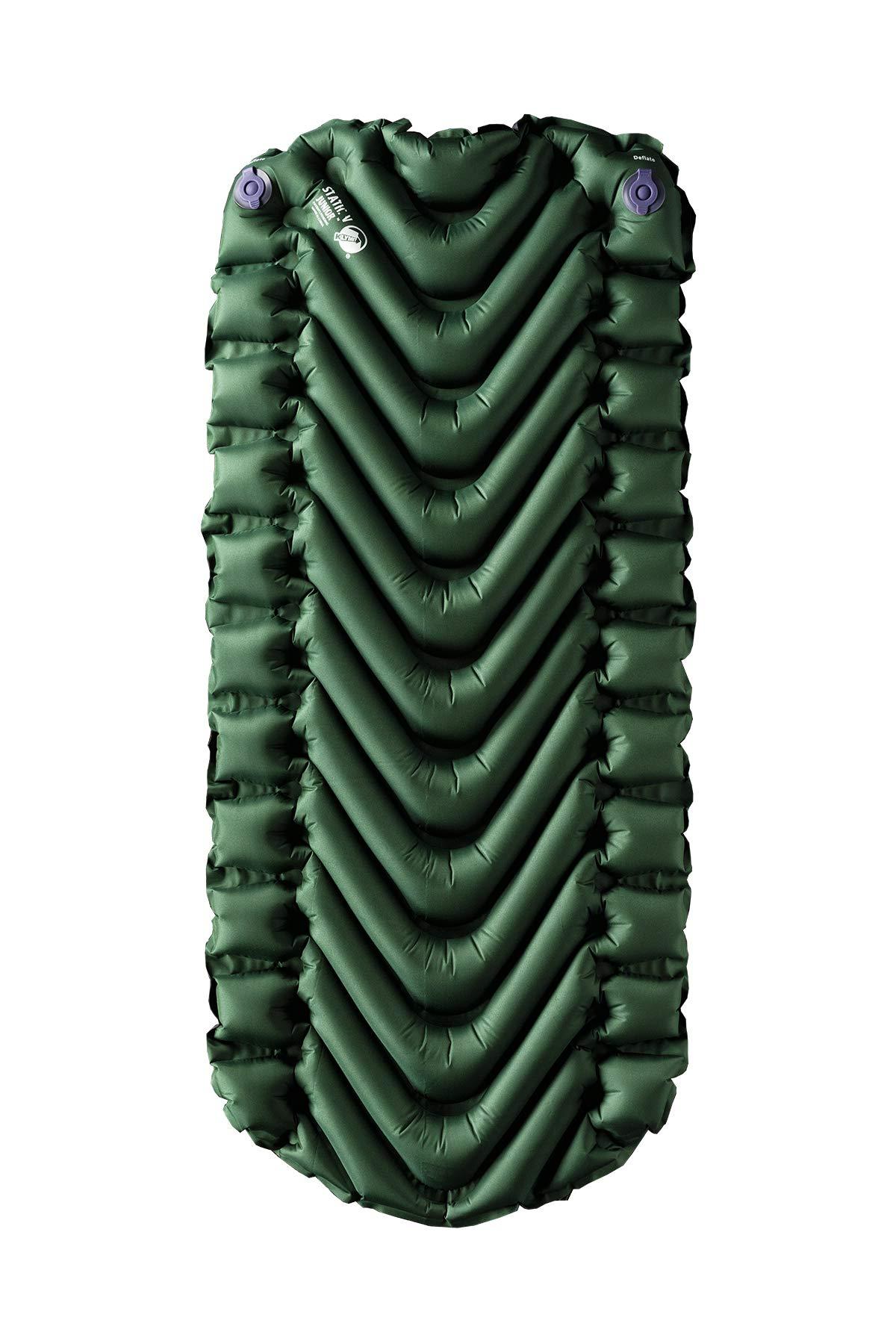 Klymit Static V Junior Sleeping Pad, Green/Char Black by Klymit