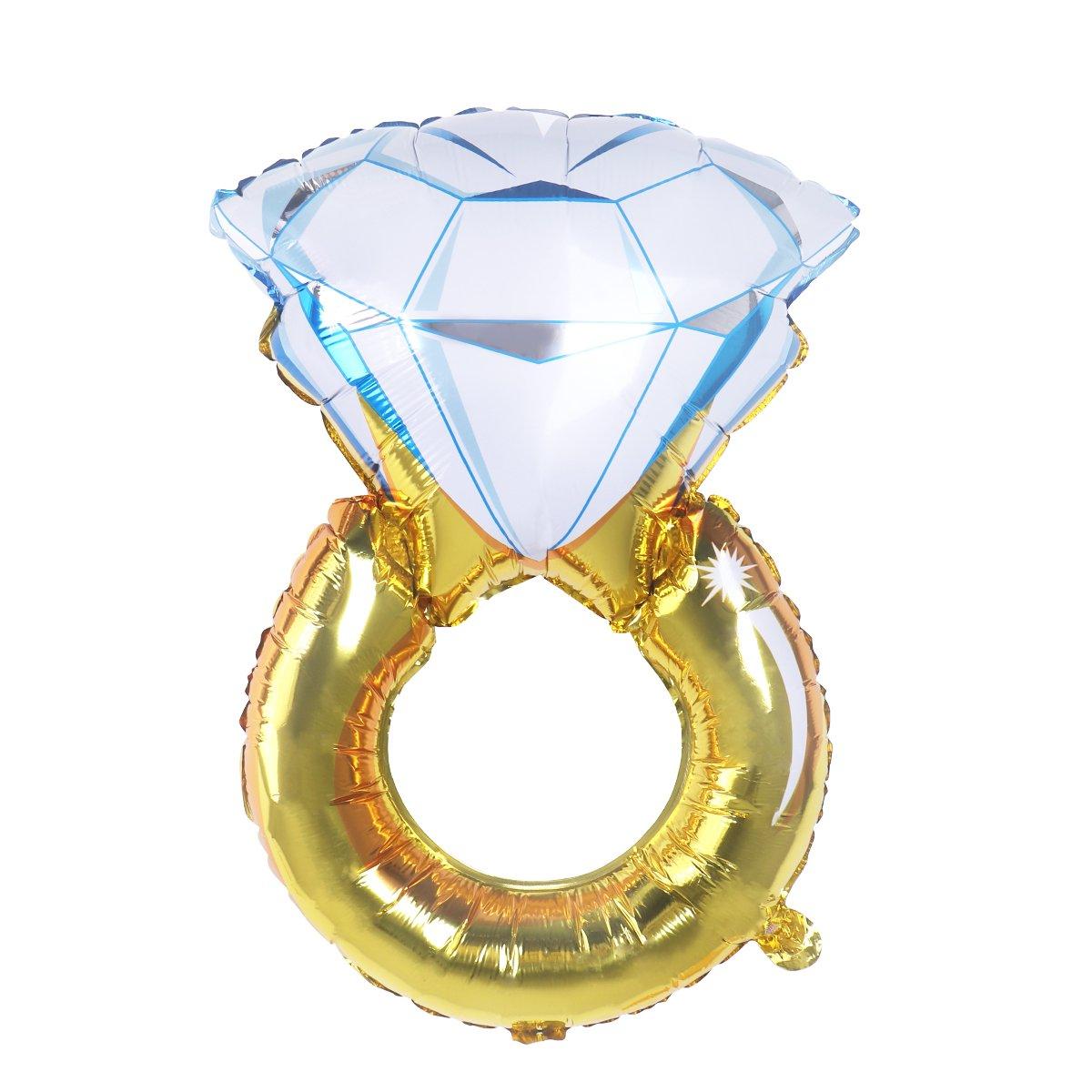 NUOLUX Diamant Anneau Ballon Romantique Ballon pour Mariage Anniversaire Fiançailles Fête Décoration
