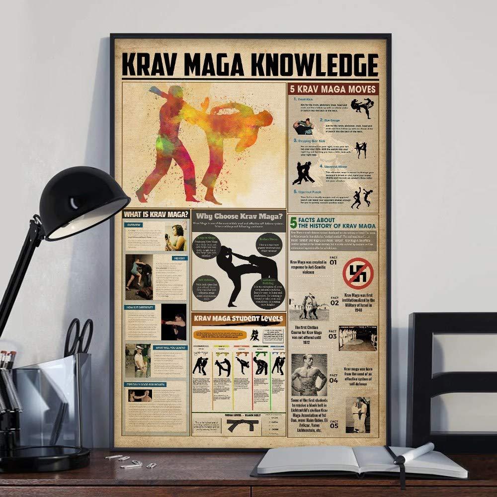 Unframed Poster Krav Maga Knowledge size 24x36 inch