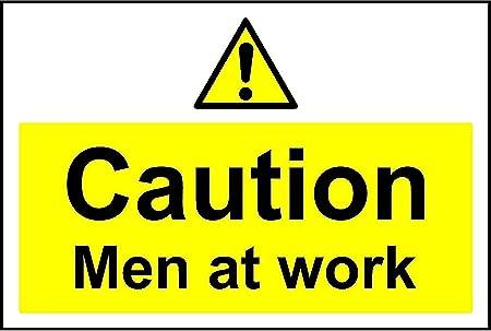Caution men at work safety sign
