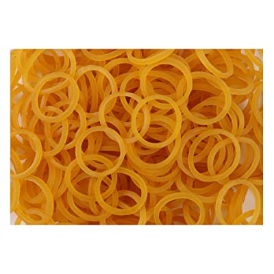 1000pcs Soft Assorted Mini Elastic Rubber Band Stretchy Rubber Band Ring Loop for School Office Home Industrial Package,Yellow