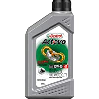Deals on 6 Pack Castrol Actevo 10W-40 Part Synthetic 4T Motorcycle Oil