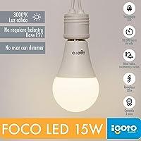 iGOTO F20115 Foco LED A60, 15 Watts, Luz Cálida