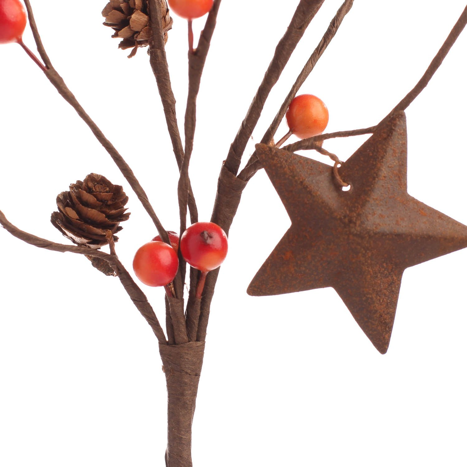 Factory Direct Craft Group of 12 Petite Rustic Star and Fall Berry Embellishing Sprays for Halloween Decor and Home Embellishing