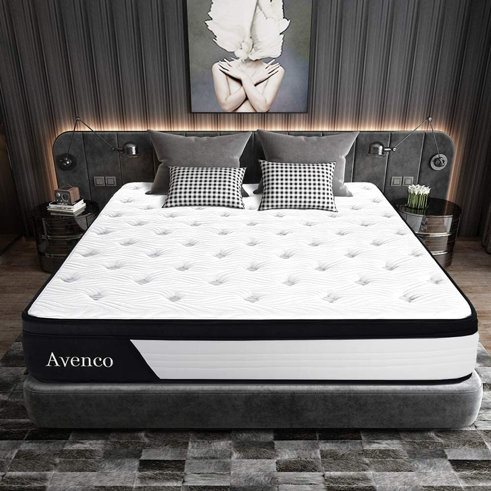 Queen Mattress, Avenco Hybrid Mattress Queen, 10 Inch ...