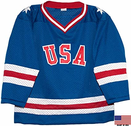 4d4e31f6b40 Amazon.com   1980 USA Olympic Miracle on Ice Hockey Jersey (Child ...