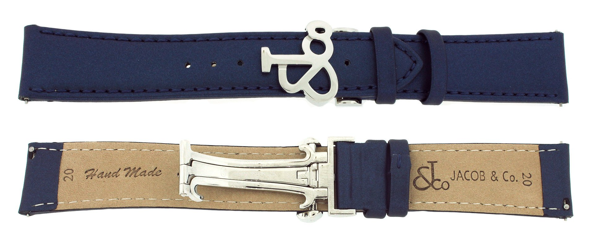 Jacob & Co. Genuine Real Satin Blue Band Strap 20MM For 40MM Watch