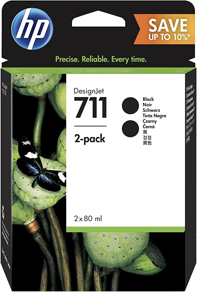 HP P2V31A 711 Cartucho de Tinta Original, 2 unidades, negro: Hp: Amazon.es: Oficina y papelería